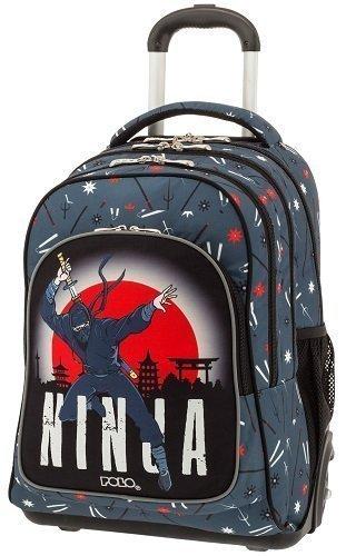e4c2fb0f4e Σχολική τσάντα Trolley Δημοτικού Polo Glow Ninja 9-01-251-71 (2019 ...